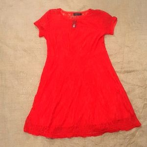 NWT Size 12 Lace red dress deadstock
